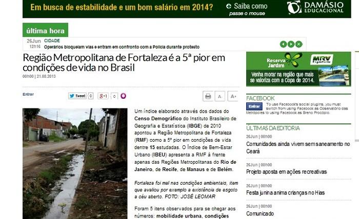 IBEU no Diário do Nordeste