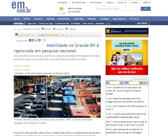 IBEU no Jornal Estado de Minas