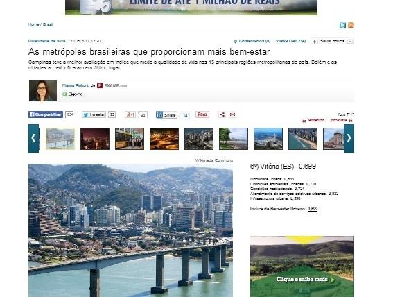 IBEU no site Revista Exame