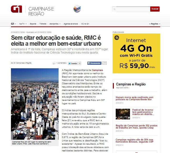 IBEU no site G1